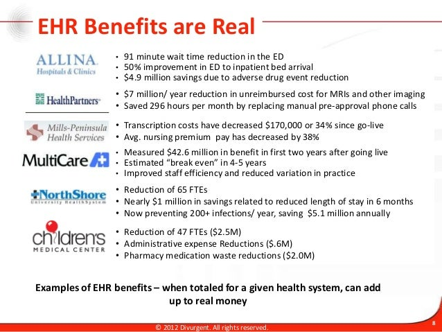 Introduction Amp Ehr Benefits Realization