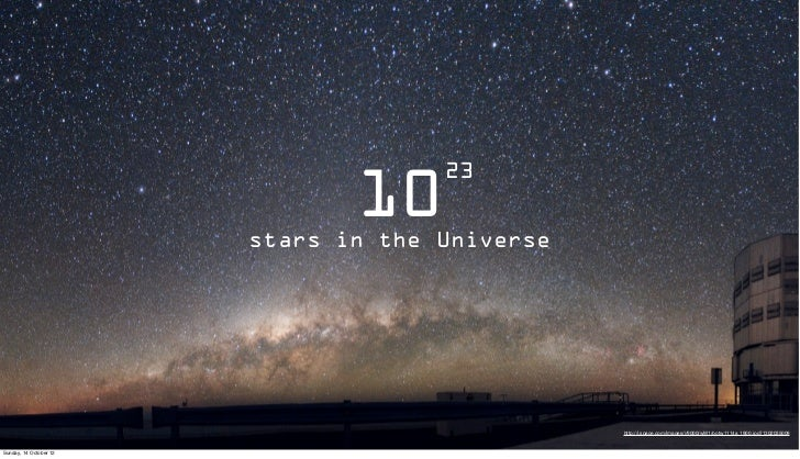 23                               10                        stars in the Universe                                          ...
