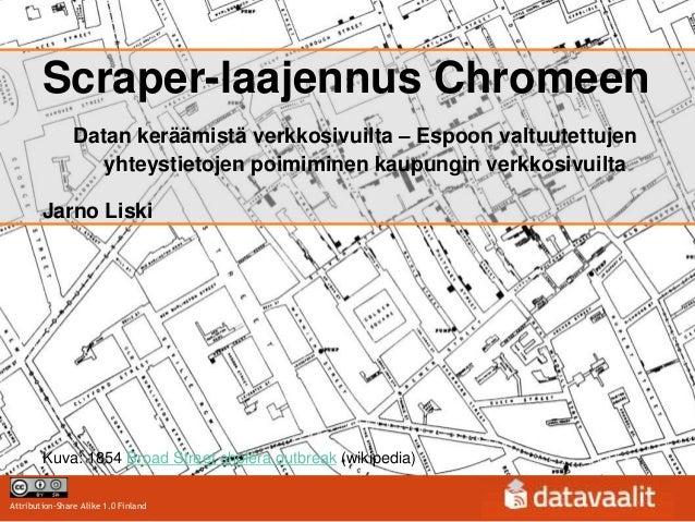 Scraper-laajennus Chromeen                Datan keräämistä verkkosivuilta – Espoon valtuutettujen                   yhteys...