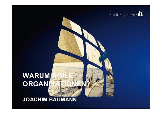 WARUM AGILEORGANISATIONEN?JOACHIM BAUMANN