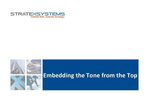 Embedding  the  Tone  from  the  Top