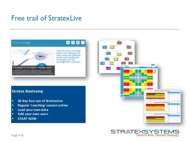 Page  §  38   Free trail of StratexLive Stratex  Bootcamp      § 30  day  free  use  of  StratexL...
