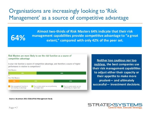 Page  §  7   Organisations are increasingly looking to 'Risk Management' as a source of competitive advantage Neith...
