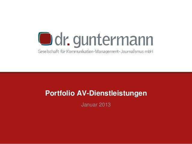 Portfolio AV-Dienstleistungen Januar 2013