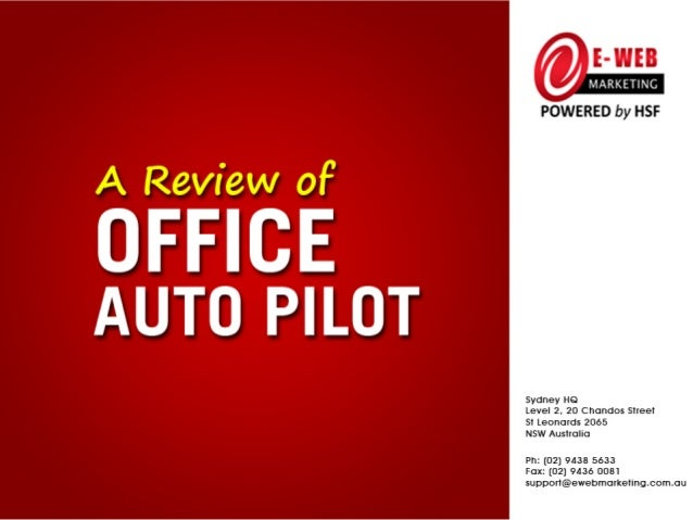 A few months ago, we startedusing   OfficeAutoPilot andI thought it would begood    to    share  ourexperience with you.