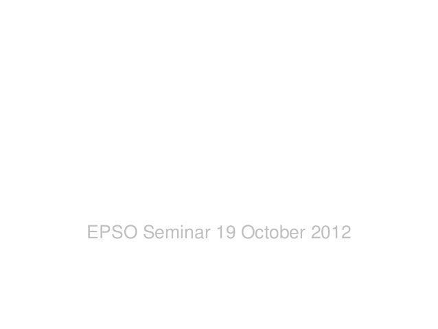 CBT @ SelorPast, present & future  EPSO Seminar 19 October 2012