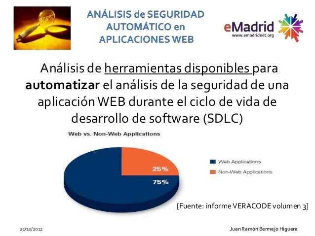 Análisis de herramientas disponibles para  automatizar el análisis de la seguridad de una    aplicación WEB durante el cic...