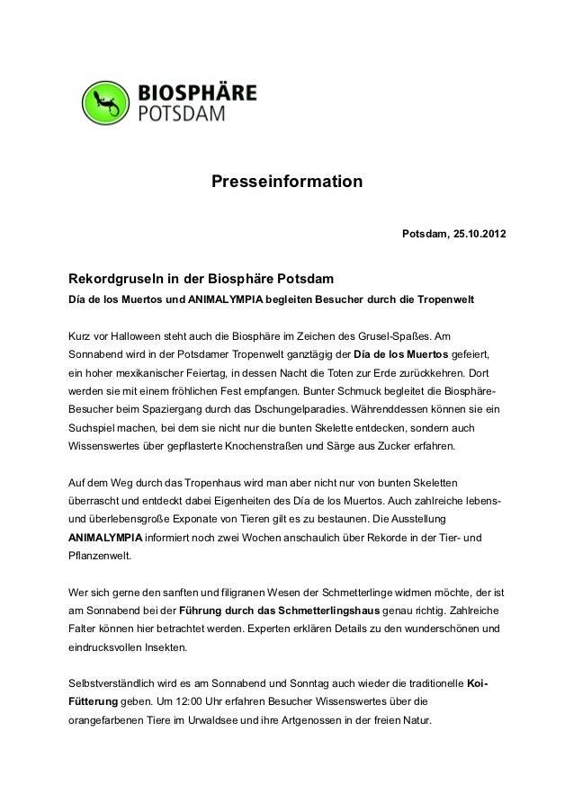 Presseinformation                                                                     Potsdam, 25.10.2012Rekordgruseln in ...