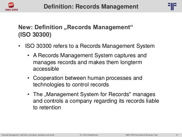 en records management definitions principles With documents management definition