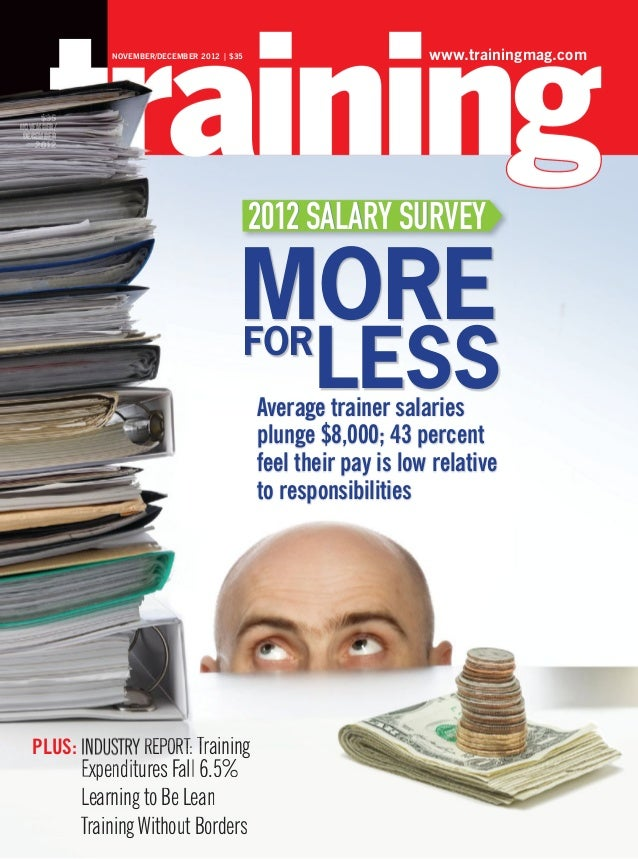 Traininmag 2012/11-12 2012 Salary survey MORE FOR LESS