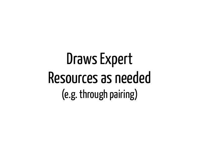 Draws ExpertResources as needed  (e.g. through pairing)