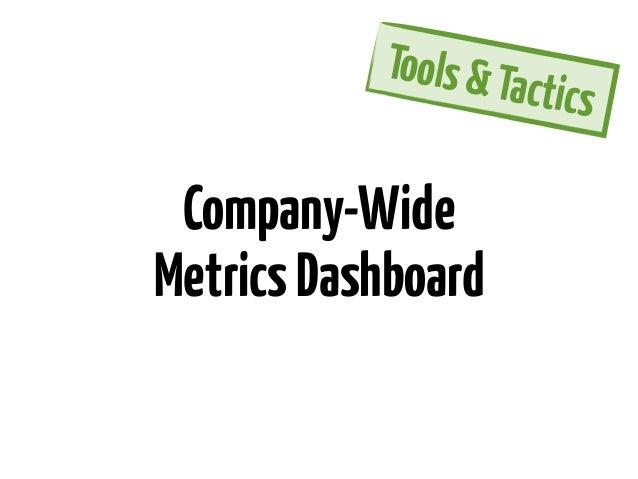 Tools & Ta                      c   tics Company-WideMetrics Dashboard