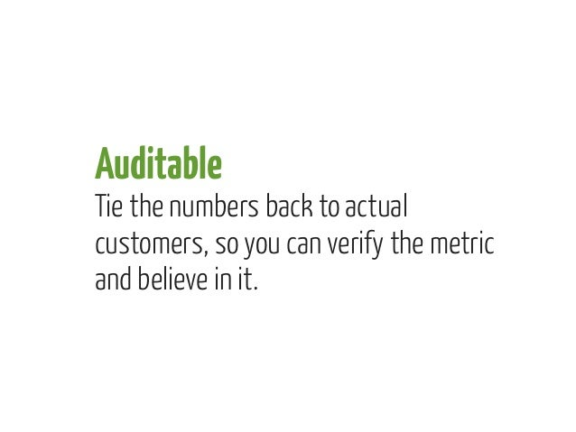 You need all three            ACTIONABLEAUDITABLE                ACCESSIBLE