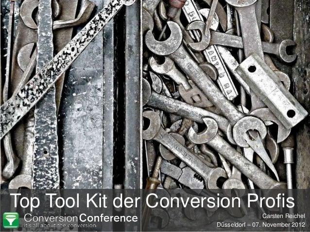 Top Tool Kit der Conversion Profis                                         Carsten Reichel                        Düsseldo...