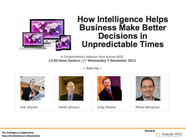 Powered byThe Intelligence Collaborativehttp://IntelCollab.com #IntelCollab