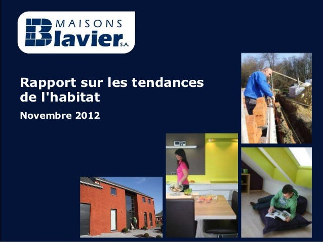 Rapport sur les tendancesde lhabitatNovembre 2012