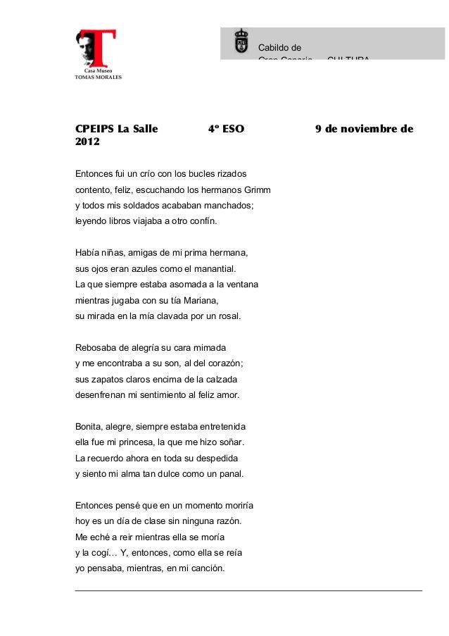 Cabildo de                                              Gran Canaria     CULTURACPEIPS La Salle                   4º ESO  ...