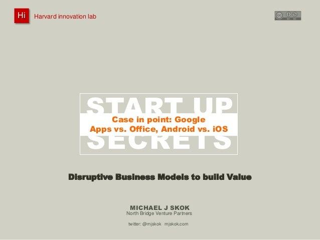 Harvard innovation lab :       Michael J Skok :           Startup Secrets :   Business Models HiHi    Harvard innovation l...