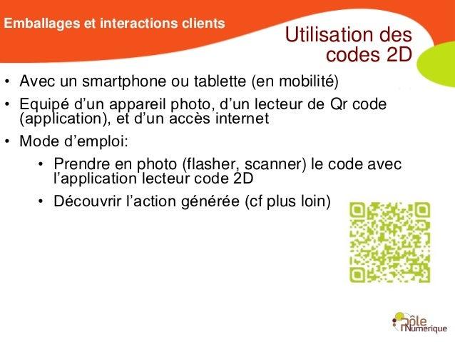 Emballages et interactions clients                                      Utilisation des                                   ...