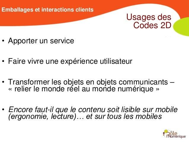Emballages et interactions clients                                       Usages des                                       ...
