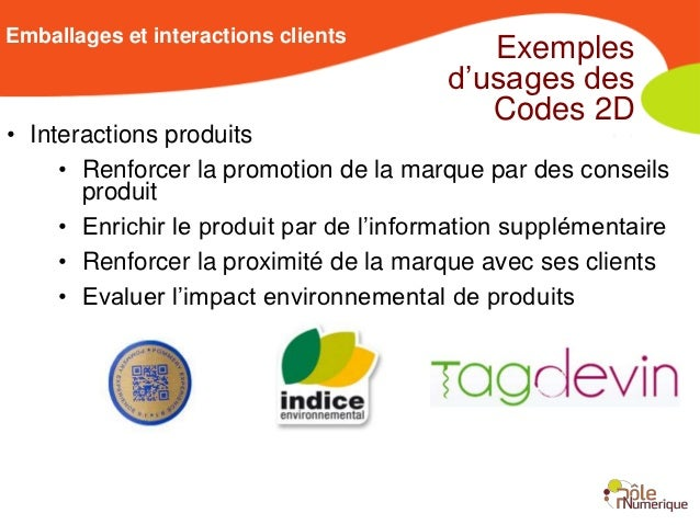 Emballages et interactions clients                                            Exemples                                    ...