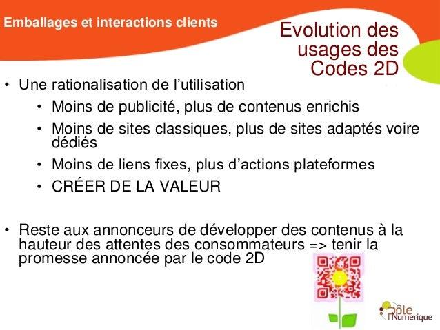 Emballages et interactions clients                                       Evolution des                                    ...