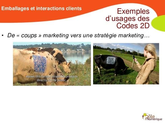 Emballages et interactions clients                                        Exemples                                     d'u...