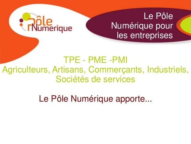 Le Pôle                            Numérique pour                             les entreprises                 TPE - PME -P...