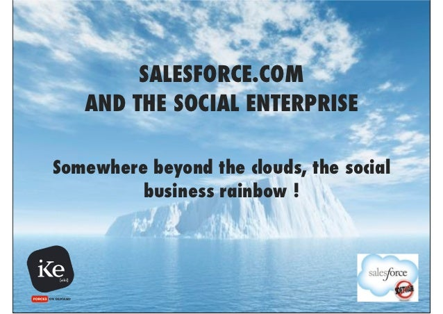SALESFORCE.COM   AND THE SOCIAL ENTERPRISESomewhere beyond the clouds, the social         business rainbow !