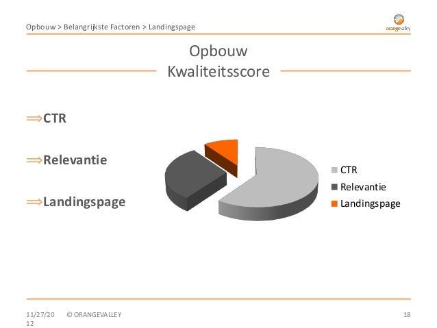 Opbouw > Belangrijkste Factoren > Landingspage                                        Opbouw                              ...