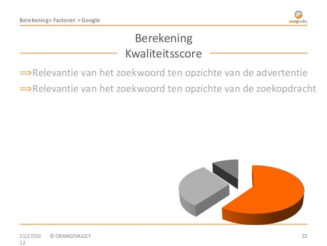 Berekening> Factoren > Google                                 Berekening                                Kwaliteitsscore⟹Re...