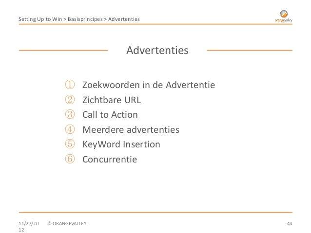 Setting Up to Win > Basisprincipes > Advertenties                                           Advertenties                  ...