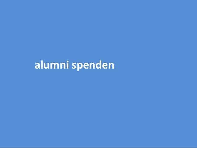 alumni spenden