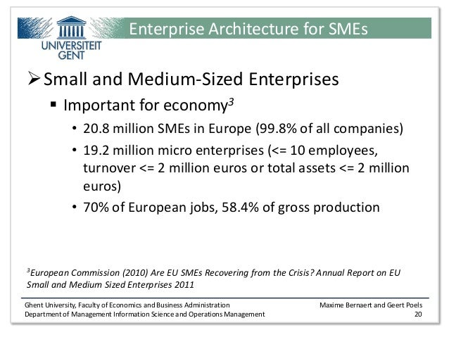 importance of small and medium enterprises To income generation, the study showed that smes served as an important   developing the economy through small and medium enterprises is one way of.