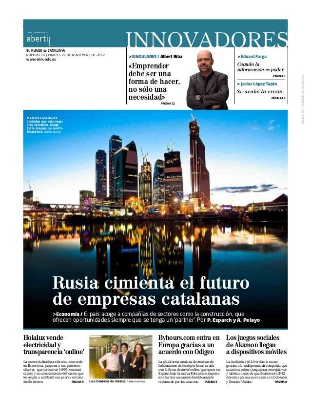 EL MUNDO / AÑO XXIV / MARTES 27 DE NOVIEMBRE DE 2012                                                                      ...