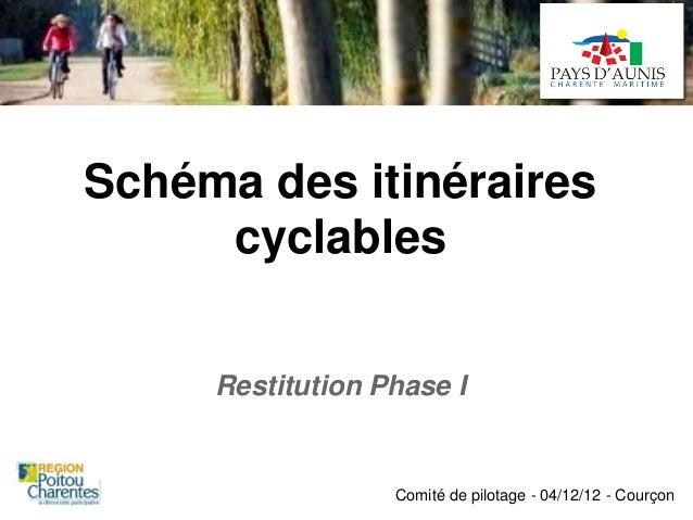 Schéma des itinéraires     cyclables     Restitution Phase I                  Comité de pilotage - 04/12/12 - Courçon