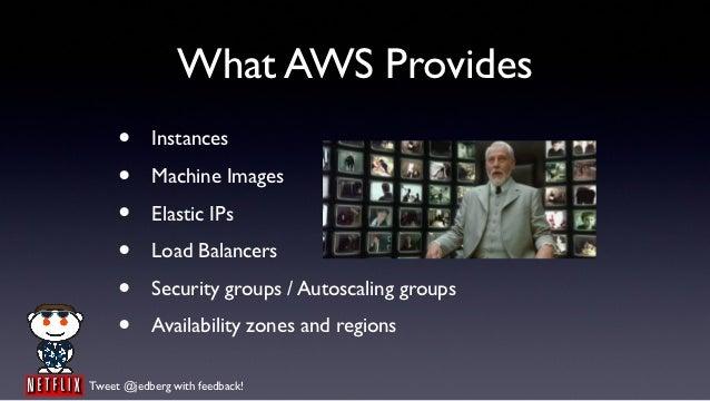 What AWS Provides     •     Instances     •     Machine Images     •     Elastic IPs     •     Load Balancers     •     Se...