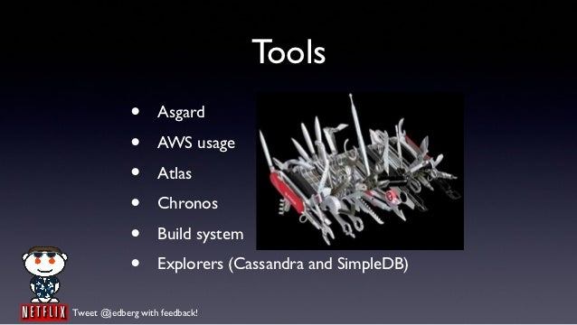 Tools             •     Asgard             •     AWS usage             •     Atlas             •     Chronos             •...