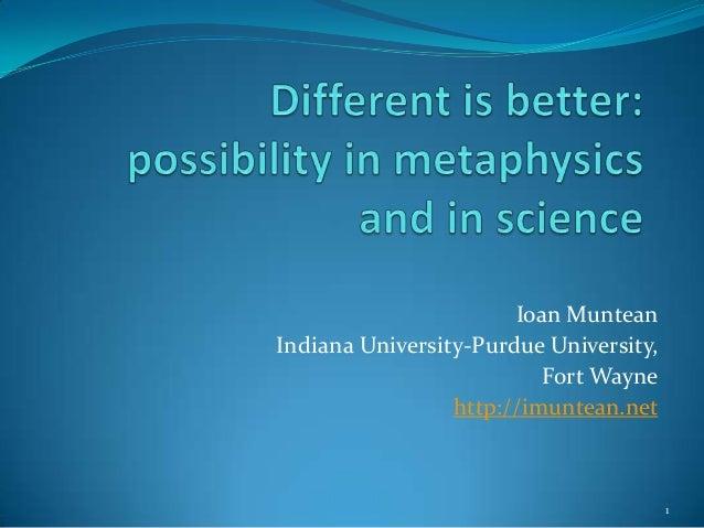 Ioan MunteanIndiana University-Purdue University,                          Fort Wayne                 http://imuntean.net ...