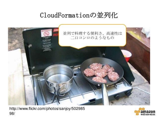 CloudFormationの並列化 並列で料理する便利さ、高速性は 二口コンロのようなもの  http://www.flickr.com/photos/sanjoy/502985 98/