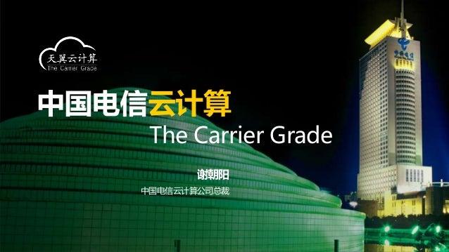 云计算 The Carrier Grade      谢朝阳中国电信云计算公司总裁