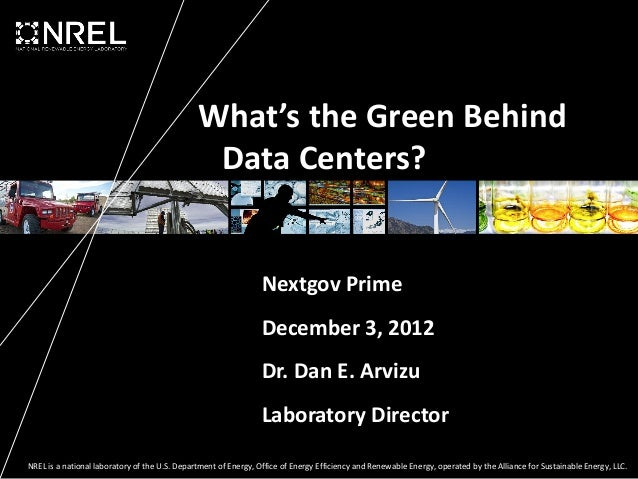 What's the Green Behind                                                Data Centers?                                      ...