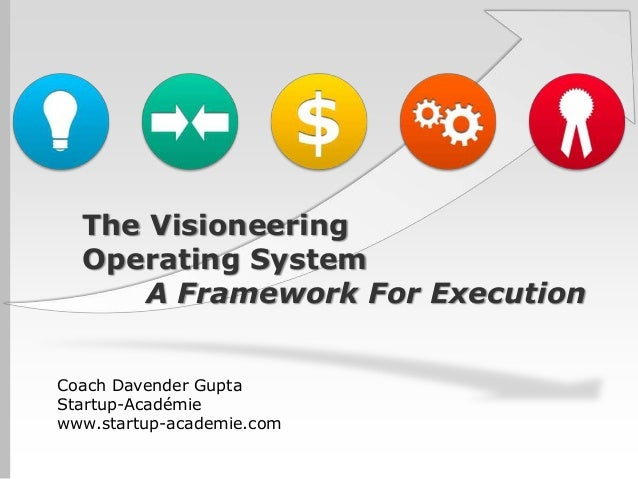 The Visioneering  Operating System      A Framework For ExecutionCoach Davender GuptaStartup-Académiewww.startup-academie....
