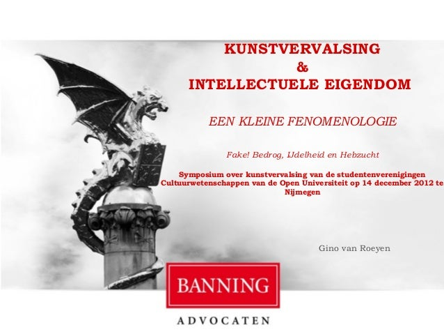 KUNSTVERVALSING                                            &                                 INTELLECTUELE EIGENDOM       ...