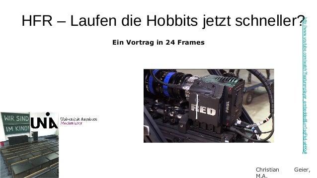 HFR – Laufen die Hobbits jetzt schneller?                                                       http://www.youtube.com/wat...