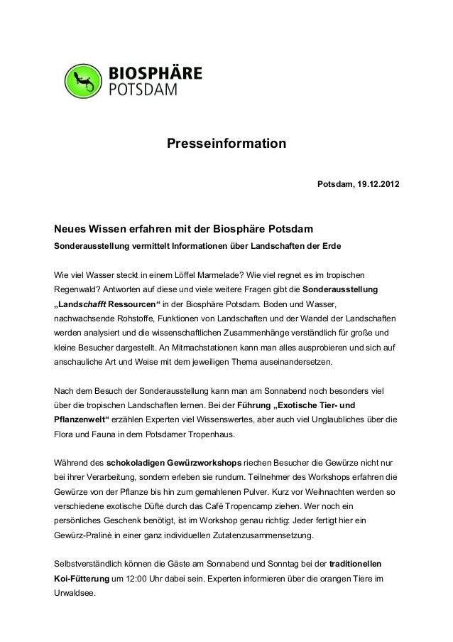 Presseinformation                                                                       Potsdam, 19.12.2012Neues Wissen er...