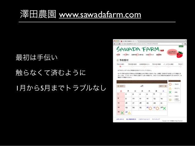 澤田農園 www.sawadafarm.com 最初は手伝い  触らなくて済むように  1月から5月までトラブルなし