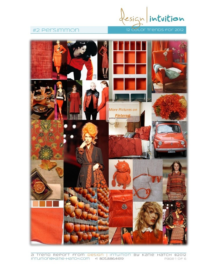 #2 Persimmon                                  12 color trends for 2012                                   More Pictures on ...