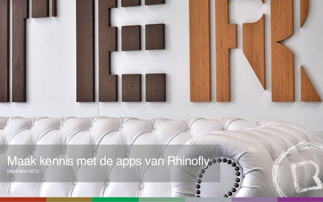 Maak kennis met de apps van RhinoflyDecember 2012