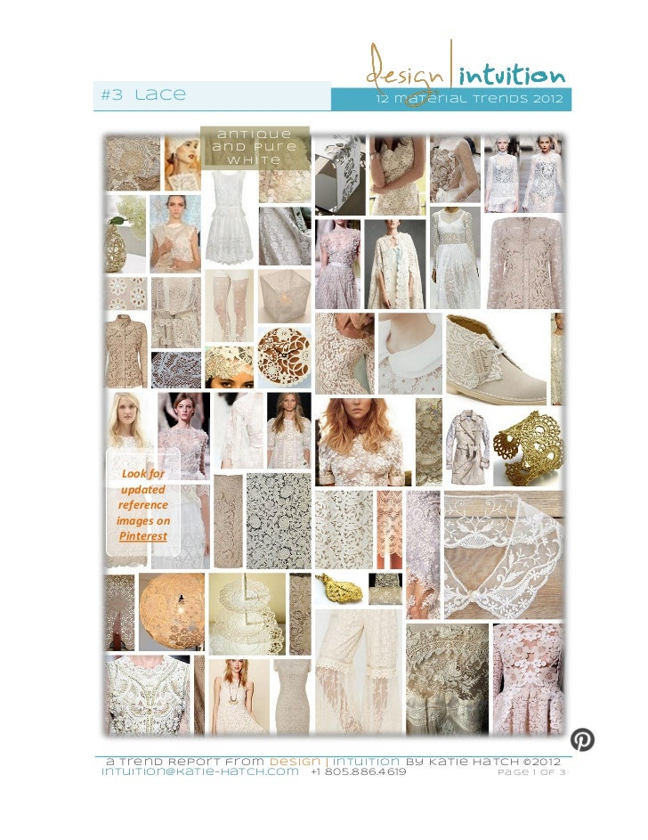 #3 lace                               12 mater ial trends 2012              antique              and pure               wh...